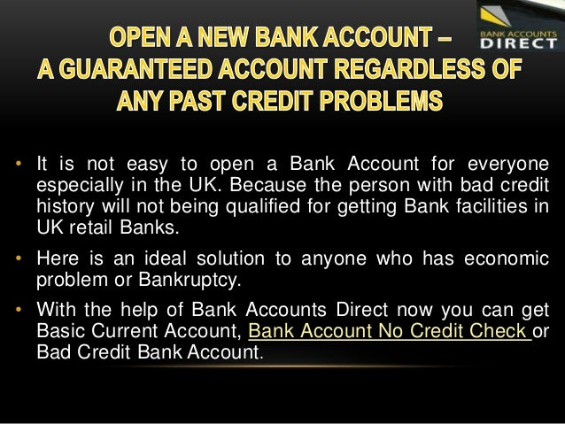 how to open a bank account with bad credit