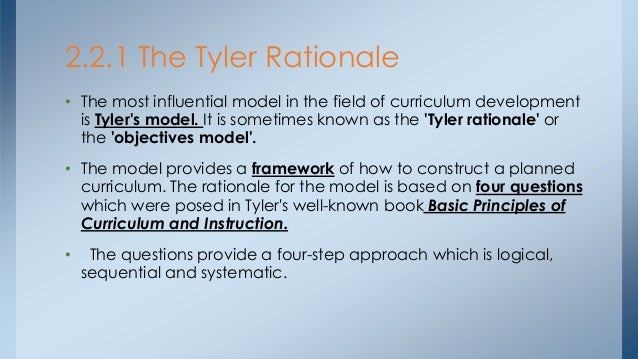the tyler rationale