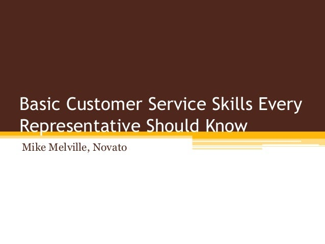 what skills should a customer service representative have