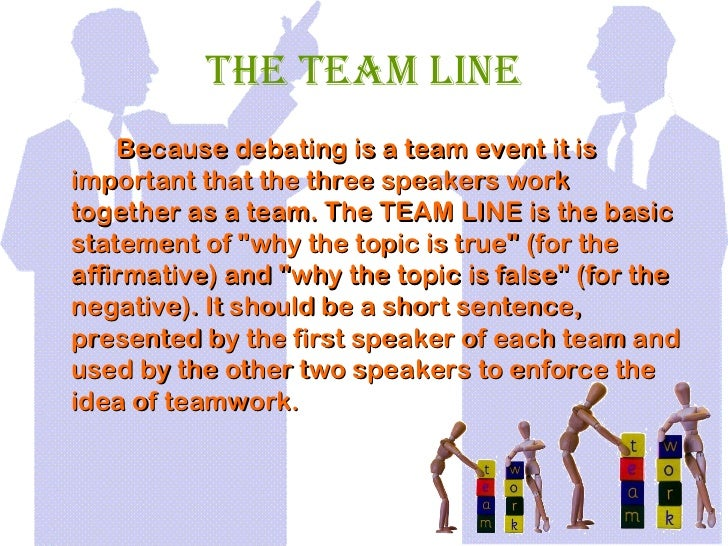 how to write a team lines debating tips