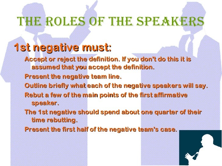 Basic debating skills for First speaker debate template