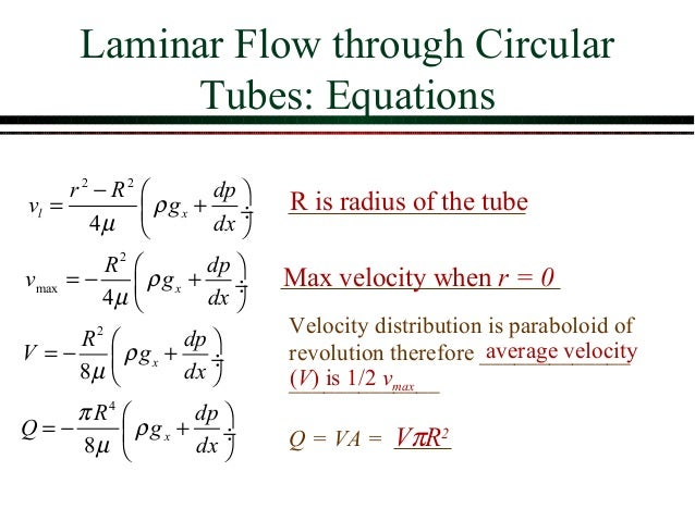 Basic differential equations in fluid mechanics