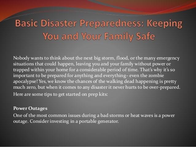 basic disaster preparedness