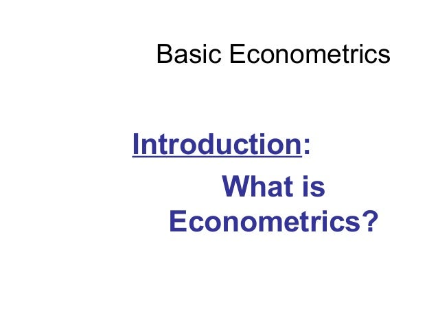 Basic Econometrics Introduction: What is Econometrics?