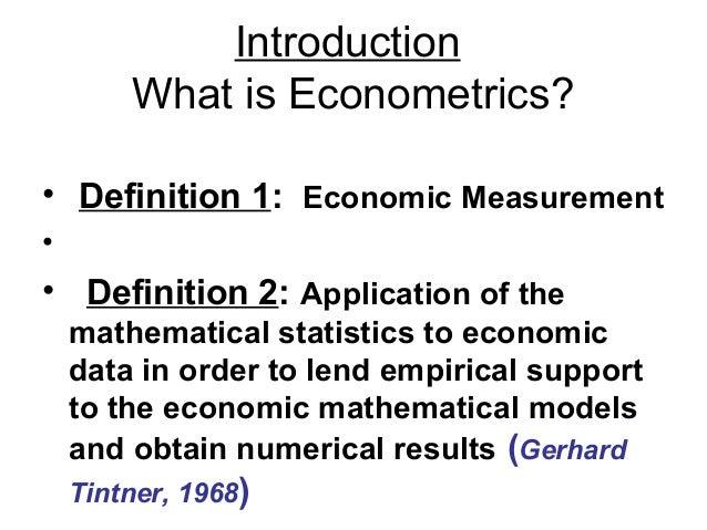 Basic econometrics lectues_1