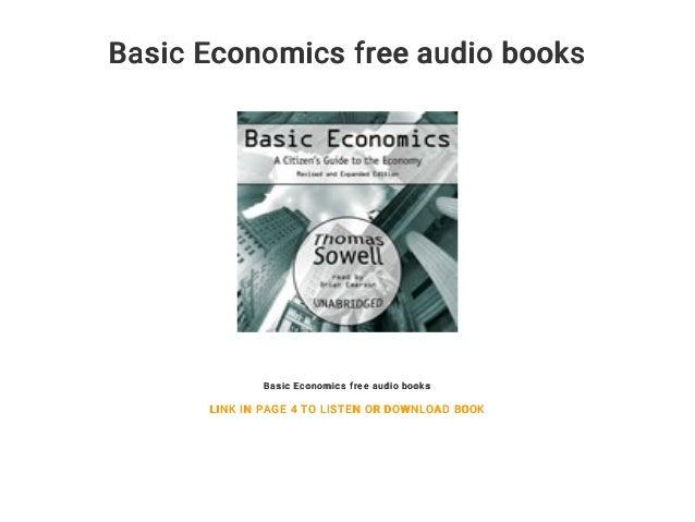 Basic Economics Free Audio Books