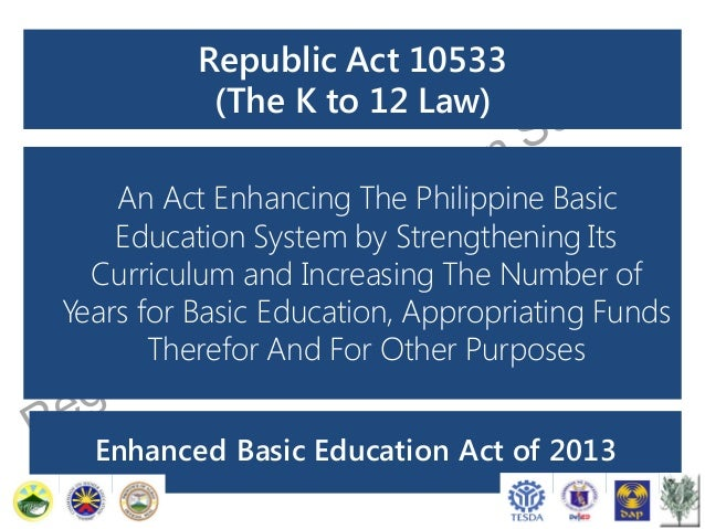 Briefer on the Enhanced K+12 Basic Education Program