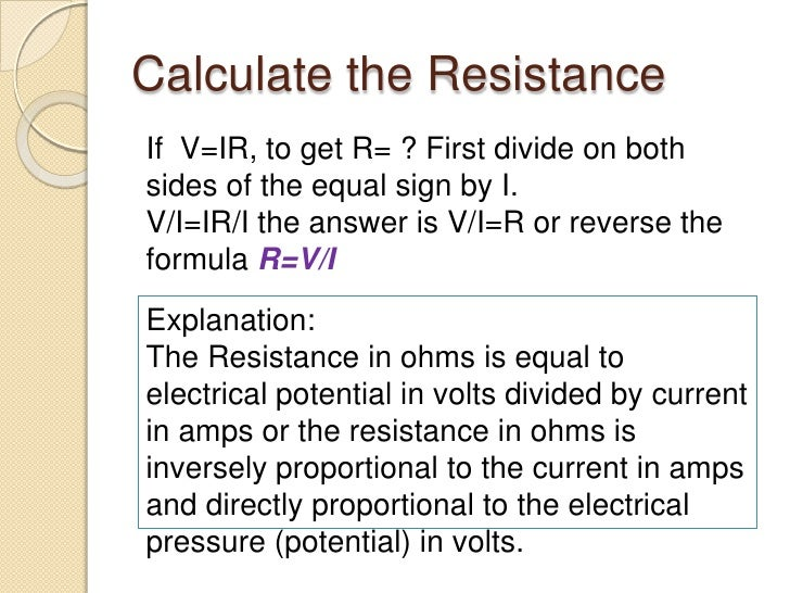Basic electrical math