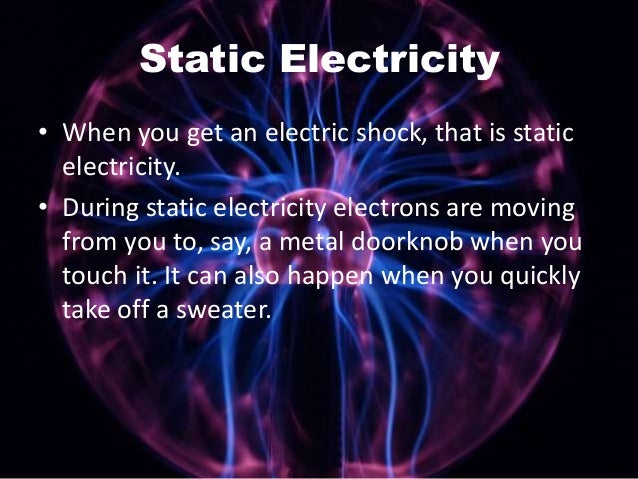 Basic electricity 4th grade level - Remove static energy ...