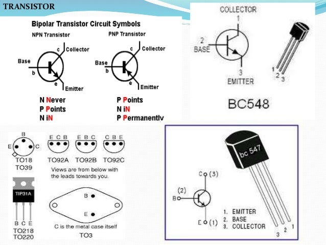Basic electronic components used in robotics