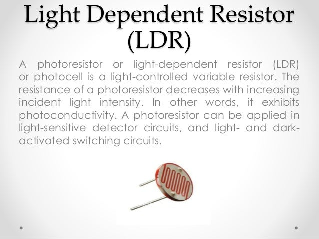 Light Sensor (Auto Light on off)
