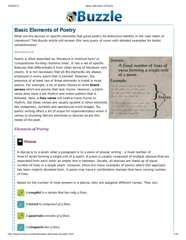articles at substances connected with poetry