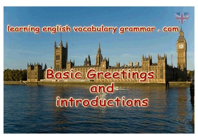 Basic English greetings pdf - short English greetings