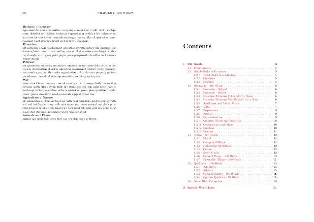 Basic english booklet