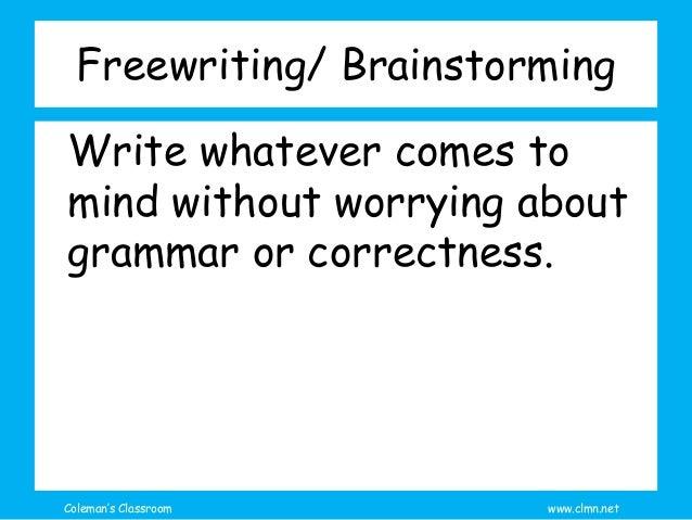 Reading: Brainstorming Ideas