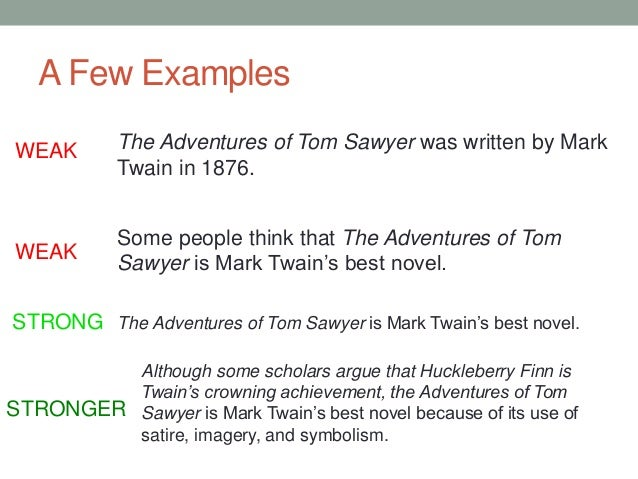 Essay about the adventures of tom sawyer