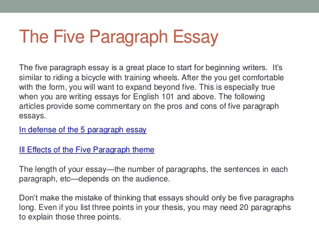 speaking my mind in defense of the five-paragraph essay