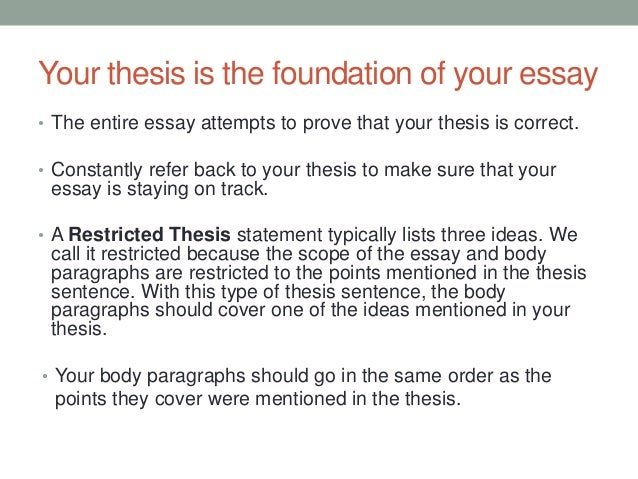 thesis statement structure How to write your thesis i thesis structure title page this is a statement of something sufficiently interesting to motivate your reader to read.