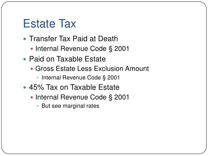 Basic Estate Tax