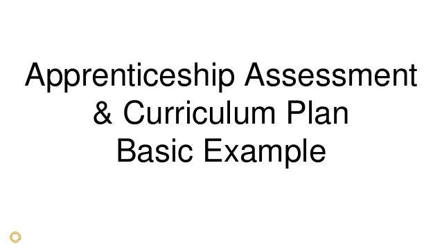 Apprenticeship Assessment & Curriculum Plan Basic Example