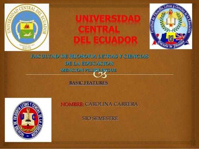 FACULTAD DE FILOSOFIA LETRAS Y CIENCIASFACULTAD DE FILOSOFIA LETRAS Y CIENCIASDE LA EDUCACIONDE LA EDUCACIONMENCION PLURIL...