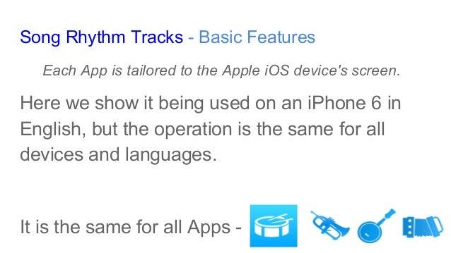 Basic Features - Song Rhythm Tracks Slide 2