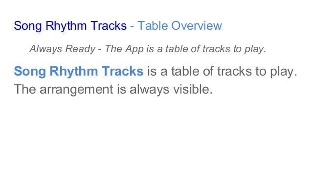 Basic Features - Song Rhythm Tracks Slide 3
