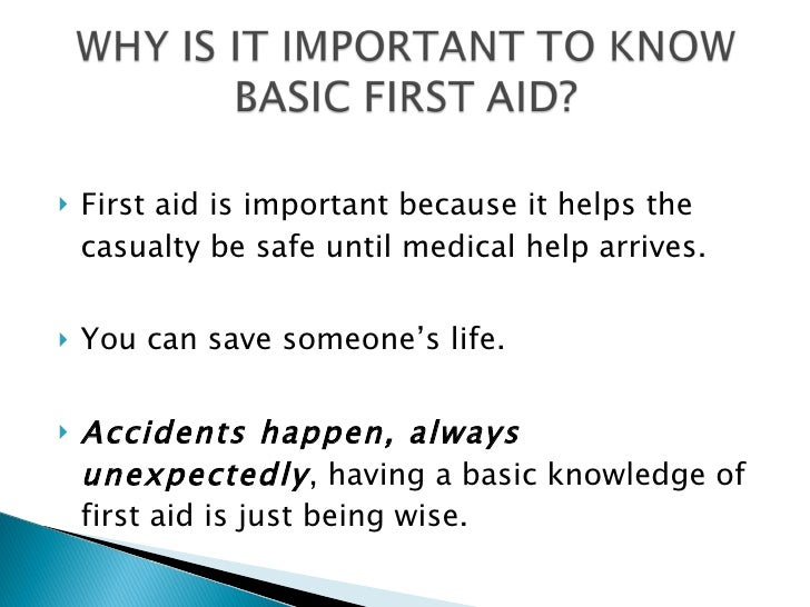 importance of first aid at school level Keywords: knowledge, first aid measures, school children and teaching   provide prompt basic first aid is particularly important in education.
