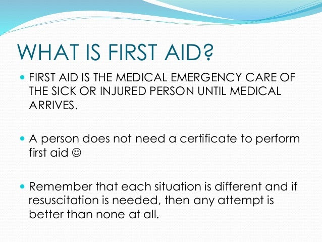 basic first aid guide pdf