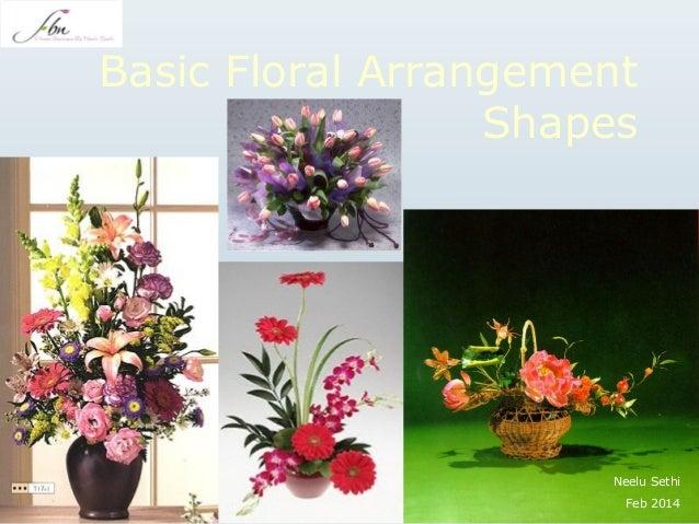 Basic floral arrangement shapes by flower boutitue