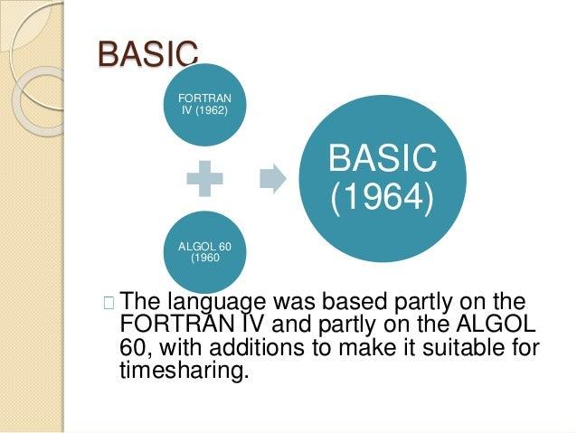 BASIC Programming Language Slide 3