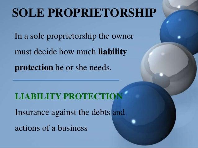 Scenarios for sole proprietorship