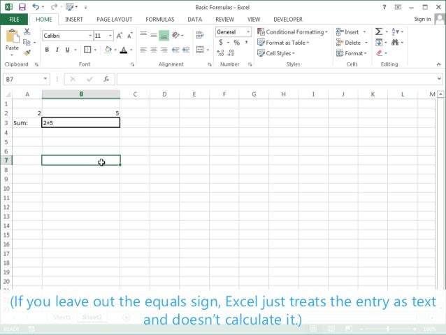 basic formulas excel 2013 tutorial