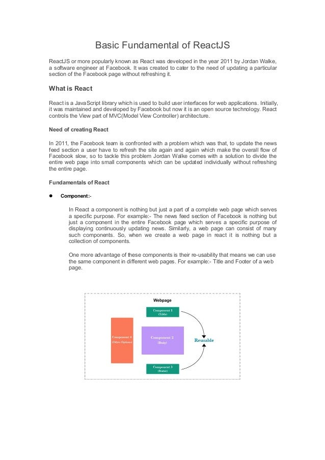 Basic fundamental of ReactJS