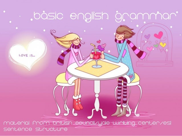 Basic english GrammarMaterial from British Council/yale writing center/eslsentence structure