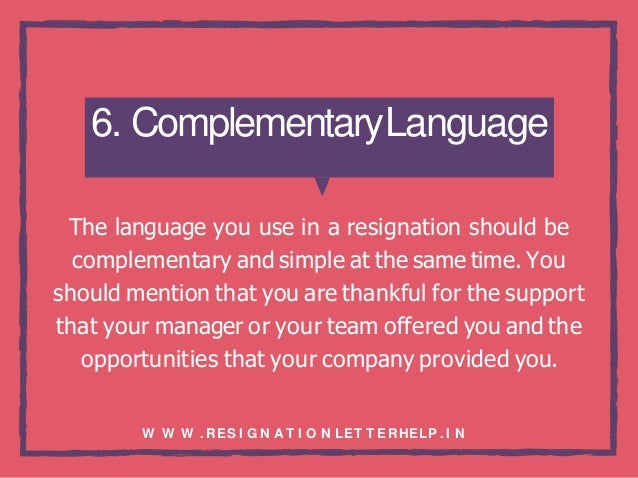 Basic guidelines of resignation letter writing 7 6 spiritdancerdesigns Image collections