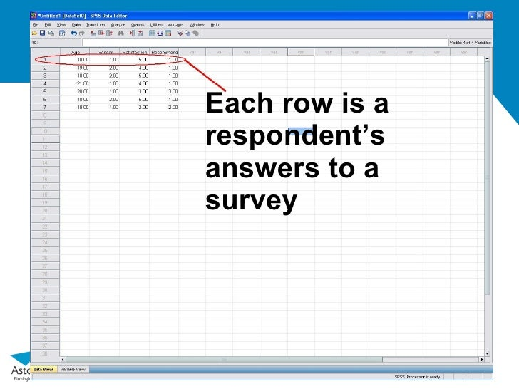 Basic Guide To Spss