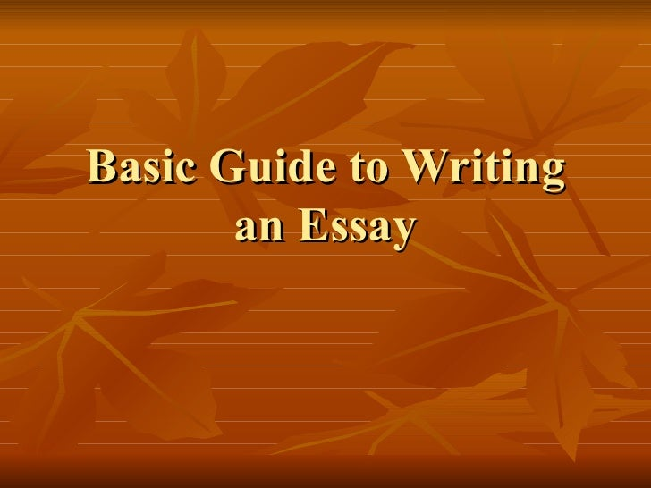 Help in writing an essay guide