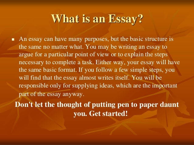 basic essay writing format
