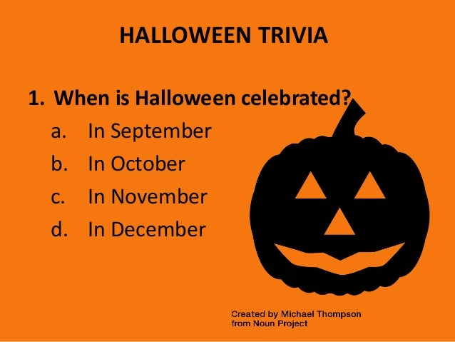 Basic halloween trivia