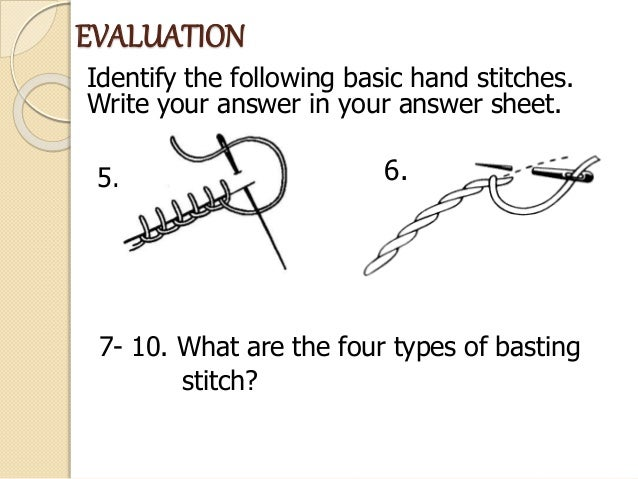 Basic Hand Stitches