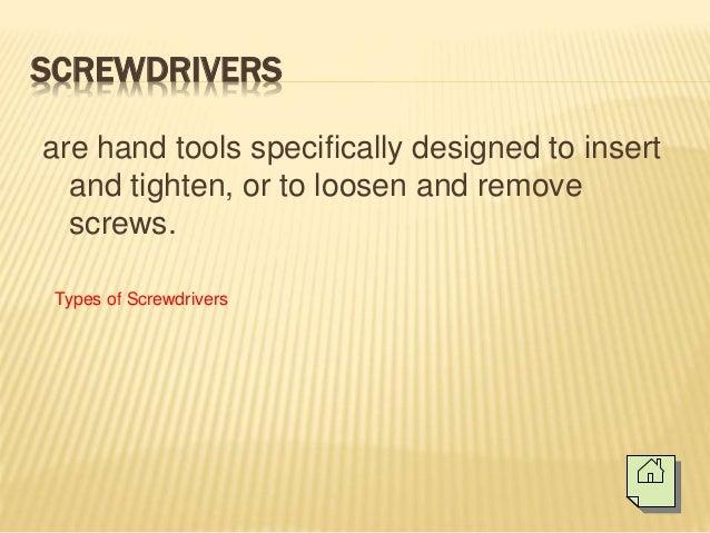 Basic hand tools (Electronics Technology) Slide 2