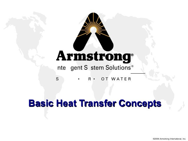 ©2006 Armstrong International, Inc. ® Basic Heat Transfer ConceptsBasic Heat Transfer Concepts