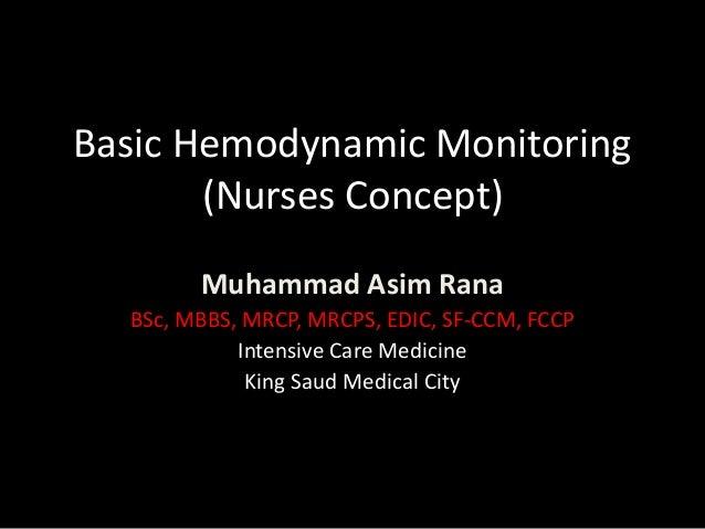 Basic hemodynamic monitoring for nurses