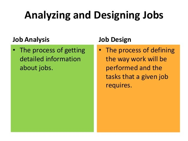 2 job analysis and job design job analysis assignment purpose: the purpose of this assignment is to familiarize you with job analysis techniques and the use of the onet site.