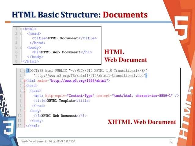 Basic Html Structure