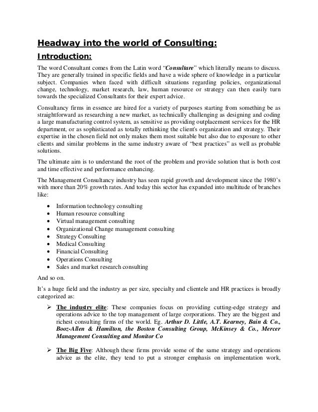 consulting report format Consulting Report - Resume Template Ideas