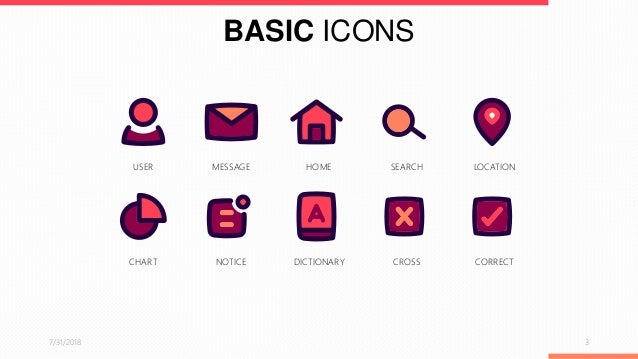 Basic icons powerpoint template free download toneelgroepblik Image collections