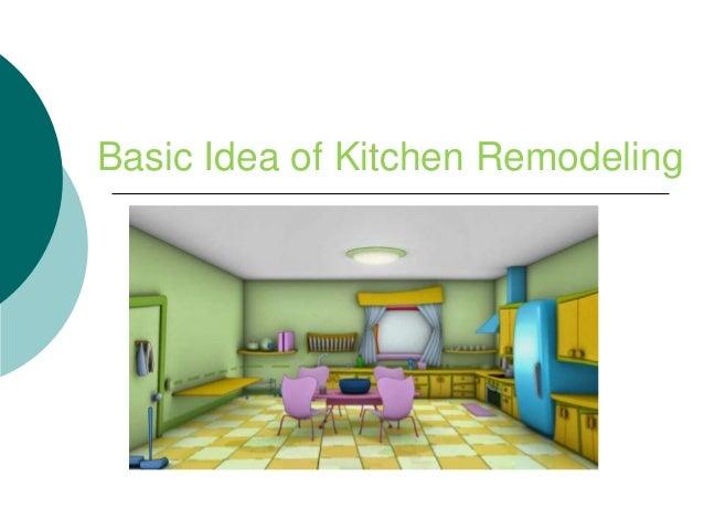 Basic Idea of Kitchen Remodeling
