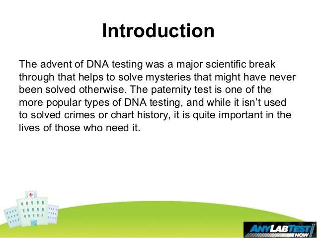 Basic Information About Paternity Testing Slide 2